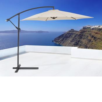 Guarda-sol em Aço C/ cobertura resistente à chuva e raios UV